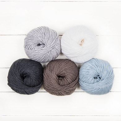 MillaMia Naturally Soft Aran Ombre 5 Ball Colour Pack