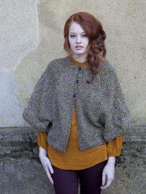 Cardigan Cape in Debbie Bliss Milano