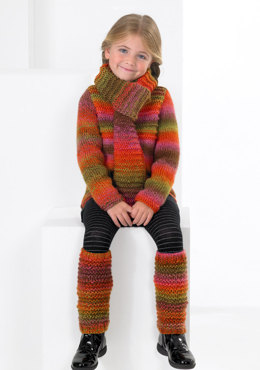 Sweater, Scarf and Leg Warmers in Stylecraft Harlequin Chunky - 8682