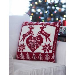 Nordic Holiday Pillow in Bernat Super Value