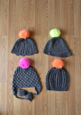 Go Go Hats In Universal Yarn Uptown Worsted Knitting