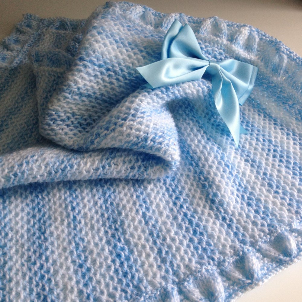 Little Boy Blue Baby Blanket Knitting Pattern By Susan J Ward