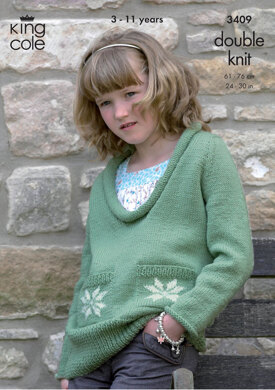 Sweater & Cardigan in King Cole DK - 3409