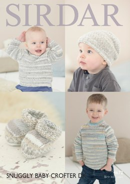 Sweater, Hat and Bootees in Sirdar Snuggly Baby Crofter DK - 4672- Downloadable PDF