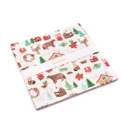 LoveCrafts Christmas Village 10in Squares - Multi