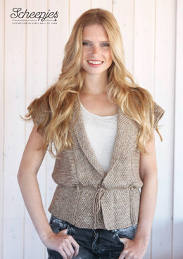 Sleeveless Cardigan in Scheepjes Stone Washed - Model B