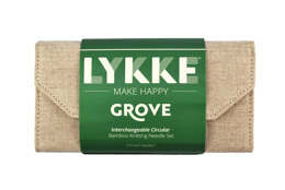 Lykke Grove 3.5in IC Set - Beige Jute Canvas Interchangeable Tips Needle