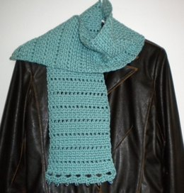 Basket Weave Scarf with Bead Trim