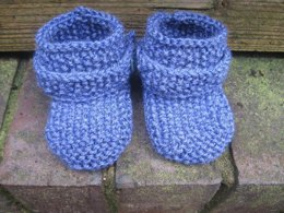 Denim Baby Booties