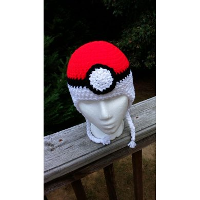 Pokeball Earflap Hat
