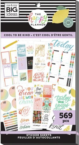Me & My Big Ideas Happy Planner Sticker Value Pack - Cool To Be Kind Student, 569/Pkg