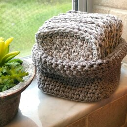 Cotton Cloths and Basket