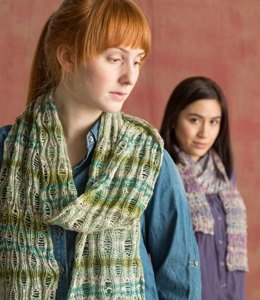 Drop Stitch Scarf in Classic Elite Yarns Bella Lino