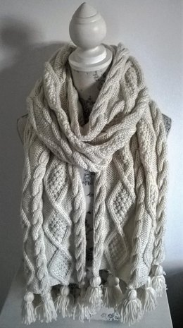 Aran Cable Scarf and Throw
