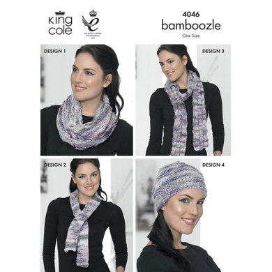 Shrug, Hat, Scarf, Snood and Neck Warmer in King Cole Bamboozle - 4046