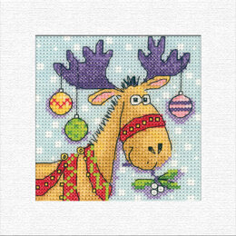 Heritage Reindeer Christmas Card Cross Stitch Kit - 14cm x 14cm
