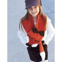 Like a Fox! Scarf in Bernat Pipsqueak and Softee Chunky