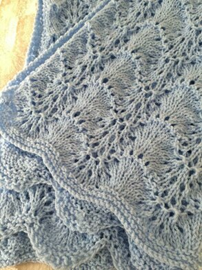 Shells & Lace Baby Blanket