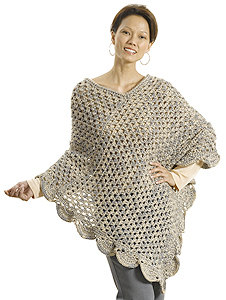 The Gift Poncho in Caron Simply Soft and Simply Soft Heathers - Downloadable PDF