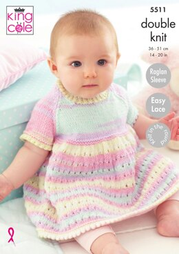 Dress, Matinee Coat and Blanket in King Cole Beaches DK - 5511 - Downloadable PDF