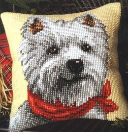 Vervaco Westie Cushion Front Chunky Cross Stitch Kit