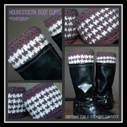 Houndstooth Boot Cuffs ~ Reversible