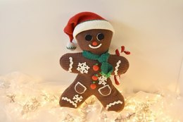 """XXL Gingerbread Man with Christmas Hat (60cm/24"""")"""