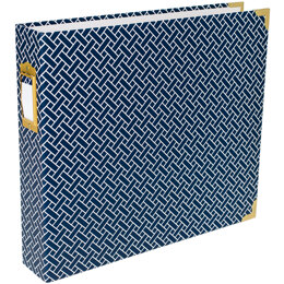 "American Crafts Project Life D-Ring Album 12""X12"" - Navy Weave"