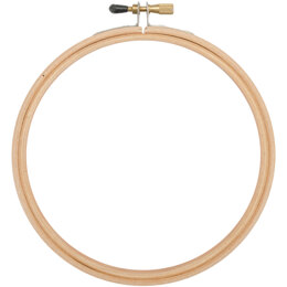 Frank A. Edmunds Wood Embroidery Hoop W/Round Edges 4in