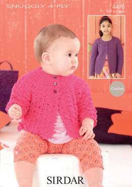 Matinee Coat and Cardigan in Sirdar Snuggly 4 Ply 50g - 4476