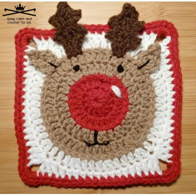 Rudolph the Reindeer Afghan Square Crochet pattern by Keep Calm and ...