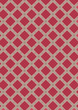 Lewis & Irene Celtic Reflections Red Check (Silver Metallic) Cut to Length