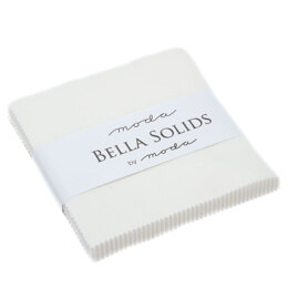 Moda Fabrics Bella Solids 5in Charm - Off White