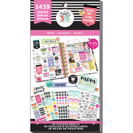 Me & My Big Ideas Happy Planner Sticker Value Pack - Mom Life - Classic, 1439/Pkg