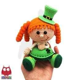 183 Girl Doll in a St Patrick Leprechaun outfit
