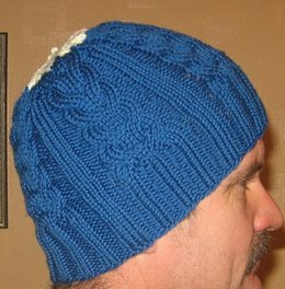 Cable Staghorn Whalebone Hat Beanie Toque