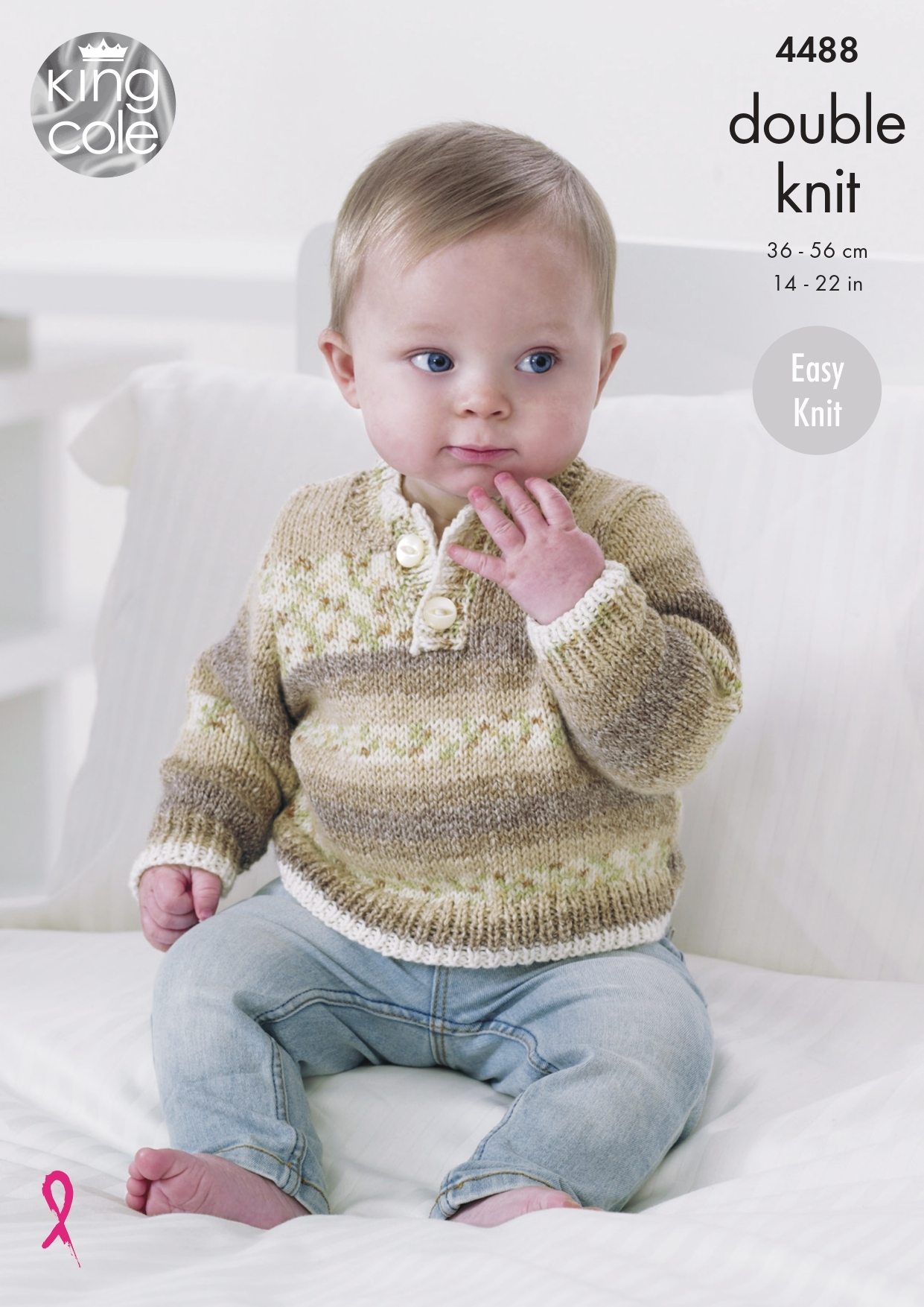 King Cole 5443 Baby/'s Sweater Cardigan /& Blanket DK Knitting Pattern 14-22/""