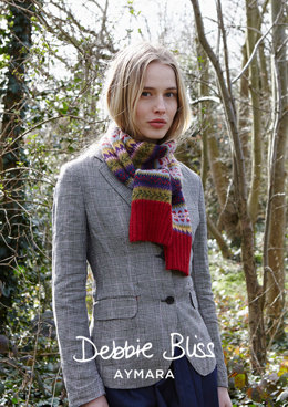 """Fiona Scarf"" - Scarf Knitting Pattern For Women in Debbie Bliss Aymara - DB212"