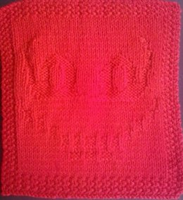 Cheshire Cat Knitted Dishcloth
