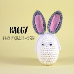 Raggy the rabbit-egg amigurumi
