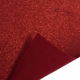 Trimits Glitter Felt Roll - 1m x45cm - Red