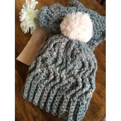 Sparks Fly hat and mitts set