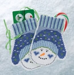 Mill Hill Snowman Mittens Cross Stitch Kit