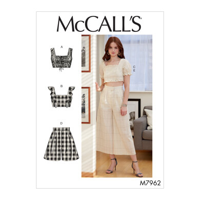 McCall's Misses' Tops, Shorts and Pants M7962 - Sewing Pattern