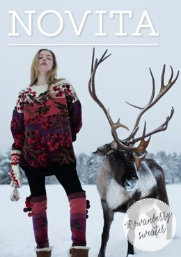 Rowanberry Sweater in Novita Nalle and Nordic Wool - Downloadable PDF