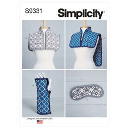 Simplicity Hot or Cold Shoulder Wrap, Mask and Wrist Wrap S9331 - Sewing Pattern