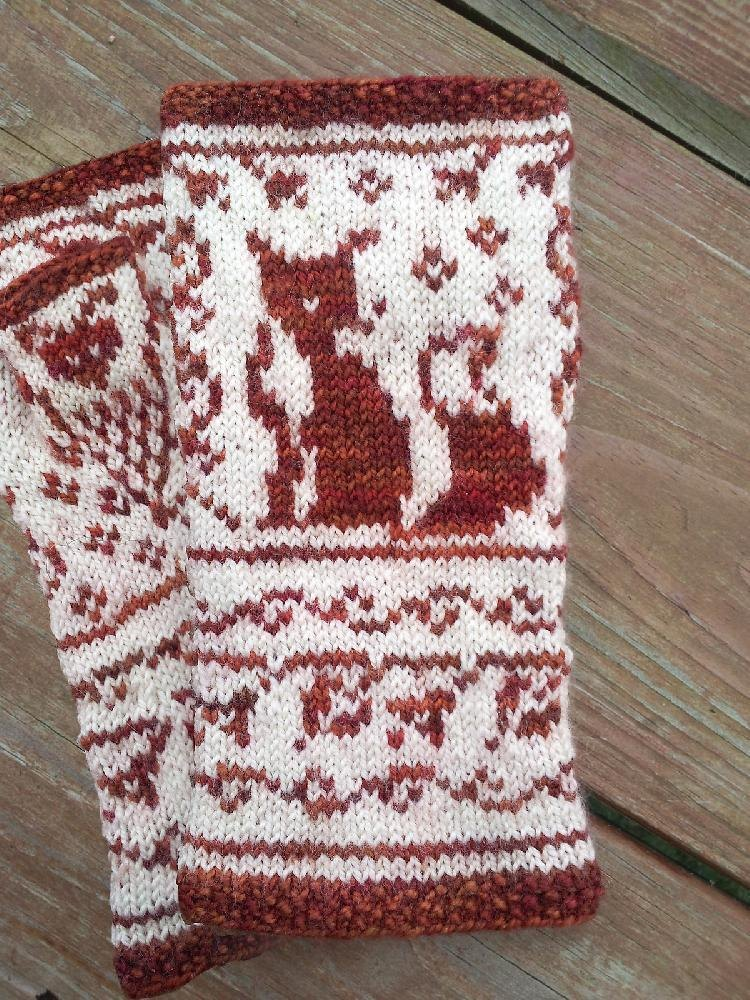 Knitting Pattern For Fox Mittens : Digit-a-less Fox Gloves Knitting pattern by OwlCat Designs ...