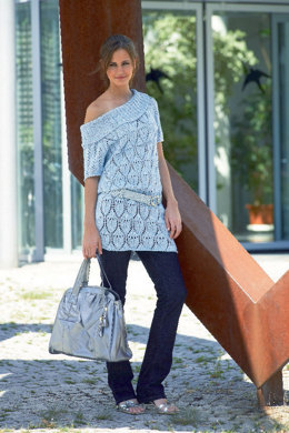 Long Raglan Sweater with Lace in Schachenmayr Sun City - 6306 - Downloadable PDF
