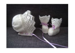Maisie Bonnet & Booties Set (4-ply)