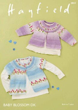 Cardigans in Hayfield Baby Blossom DK - 4843 - Downloadable PDF